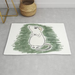 Squeak, the Tiny Inktober Mouse Rug