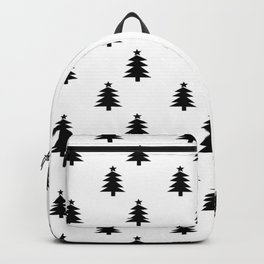 Black and White Christmas Trees Backpack