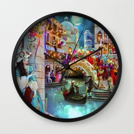 Carnival Moon Wall Clock