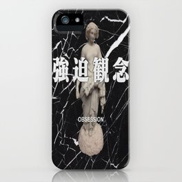 Black Marble Vaporwave iPhone Case