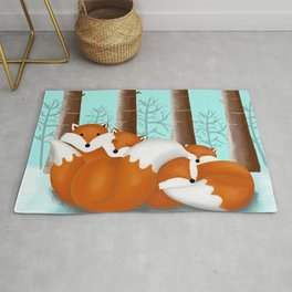 Slepping foxes Rug