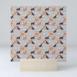 Origami Collie doggie friends Mini Art Print