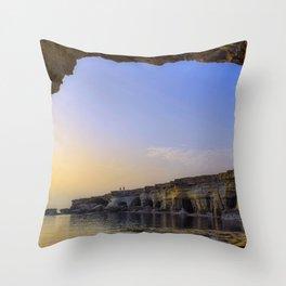 Sea Arch Cavo Greko National Park Cape Greco Ayia Napa Cyprus Ultra HD Throw Pillow