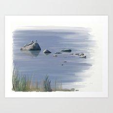 Seagull Siesta Art Print