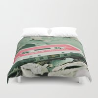 old school Duvet Covers featuring Old School  by Riot Jane