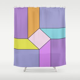 Abstract Geometrc Mill Shower Curtain