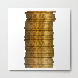 Stack Of Coins Metal Print