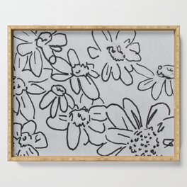Find me where the daisies grow Serving Tray