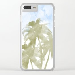 Palms and the sky Clear iPhone Case