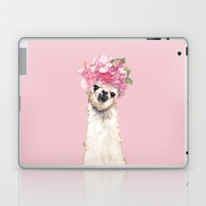 Llama with Flower Crown Laptop & iPad Skin