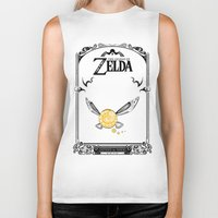 legend of zelda Biker Tanks featuring Zelda legend - Navi by Art & Be