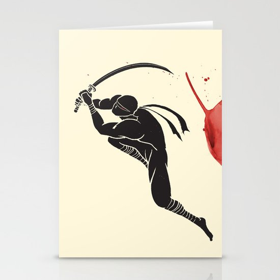 Ninja! Heads will roll! Stationery Cards