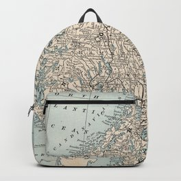 Vintage Map of Norway and Sweden (1893) Backpack