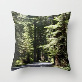 Humboldt State Park Road Throw Pillow