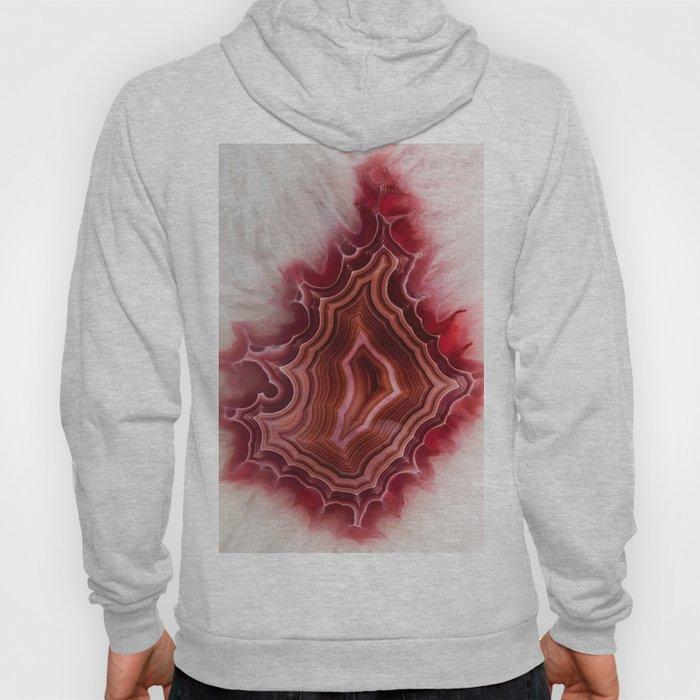Earth teasures - Bloody red agate pattern Hoody