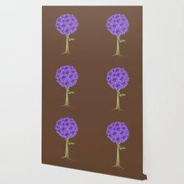 Flowerpower - Purple Flower Ball - Society6# #buyart Wallpaper