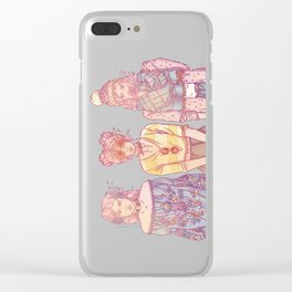 Three Wise Sisters Clear iPhone Case