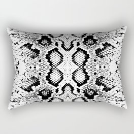 Snake skin texture. black white simple ornament Rectangular Pillow