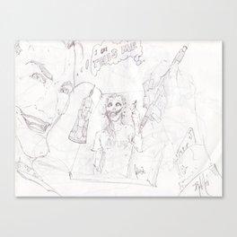 Joker's Drawing Canvas Print
