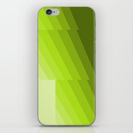 Gradient Green repetition iPhone Skin