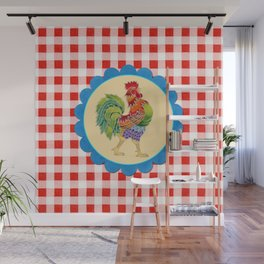 Rise and Shine Rooster Wall Mural