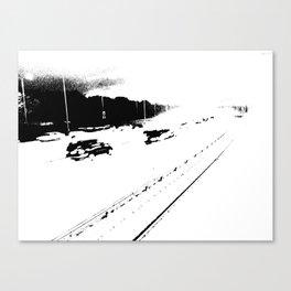 Cars and Train Canvas Print