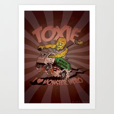 I (HEART) MONSTER HERO Art Print