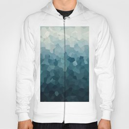 Ice Blue Mountains Moon Love Hoody