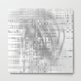 Weird shaky and foggy white and light grey texture on strange innocent wall Metal Print