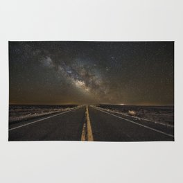 Go Beyond - Road Leads Into Milky Way Galaxy Rug