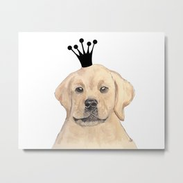 Labrador Royal Metal Print