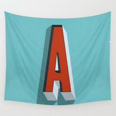Letter A Wall Tapestry