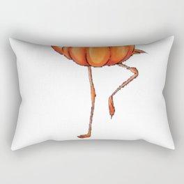 Flamingo funny halloween flamingoween pumkin casual t-shirt Rectangular Pillow
