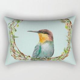 Bird and Wreath Rectangular Pillow