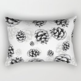 Conifer cone pattern - positive Rectangular Pillow