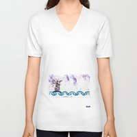 fairytale V-neck T-shirts featuring fairyTale by Vehen§Nes