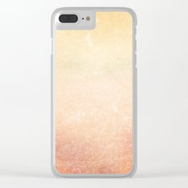 Yellow vintage background Clear iPhone Case