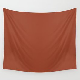 Rusty Auburn Solid Colour  Wall Tapestry