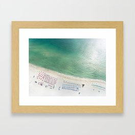 Helicopter View of Miami Beach Framed Art Print