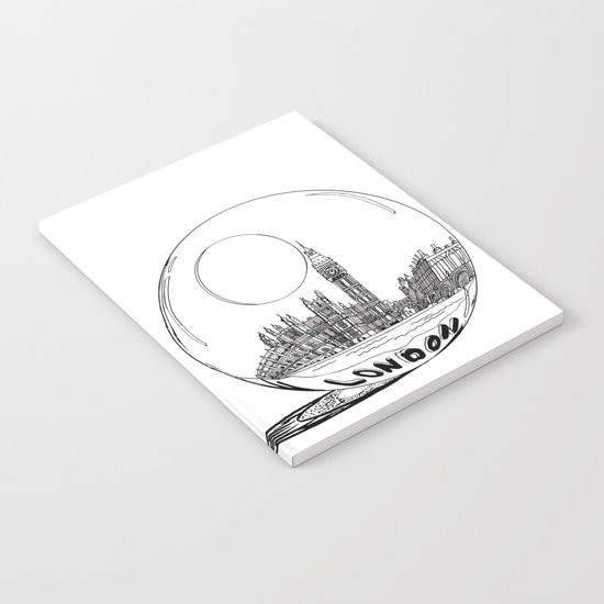 London in a glass ball Notebook