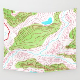 Let's go hiking - topographical map Wall Tapestry