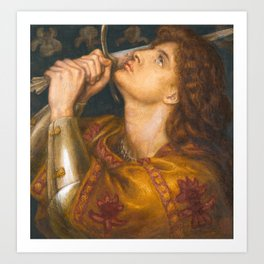 Joan of Arc by Dante Gabriel Rossetti, 1864 Art Print