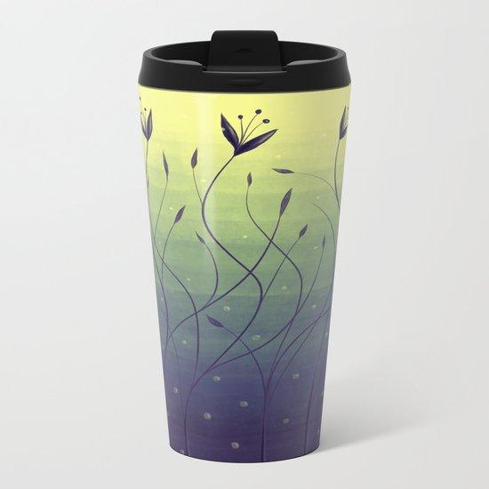 Purple Algae Plants In Green Water Metal Travel Mug