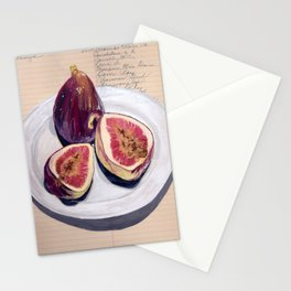 Figs on a Plate in Gouache Stationery Cards