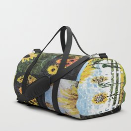 """""""Sunflower Collage"""" Duffle Bag"""