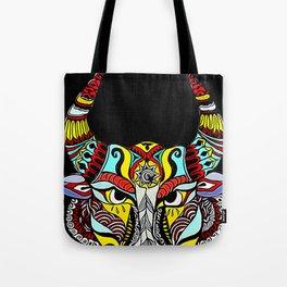 BULL MANDALA ART Tote Bag
