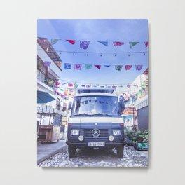 Papel Picado | Van in the streets in Mexico Metal Print