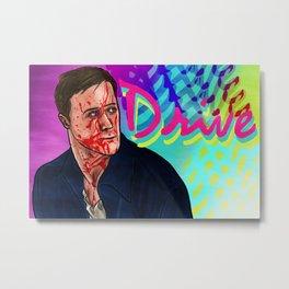 Drive Poster v4 Metal Print