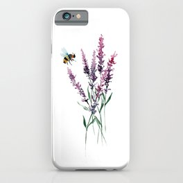 Lavender and Bee iPhone Case