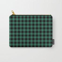 Green Tartan Carry-All Pouch